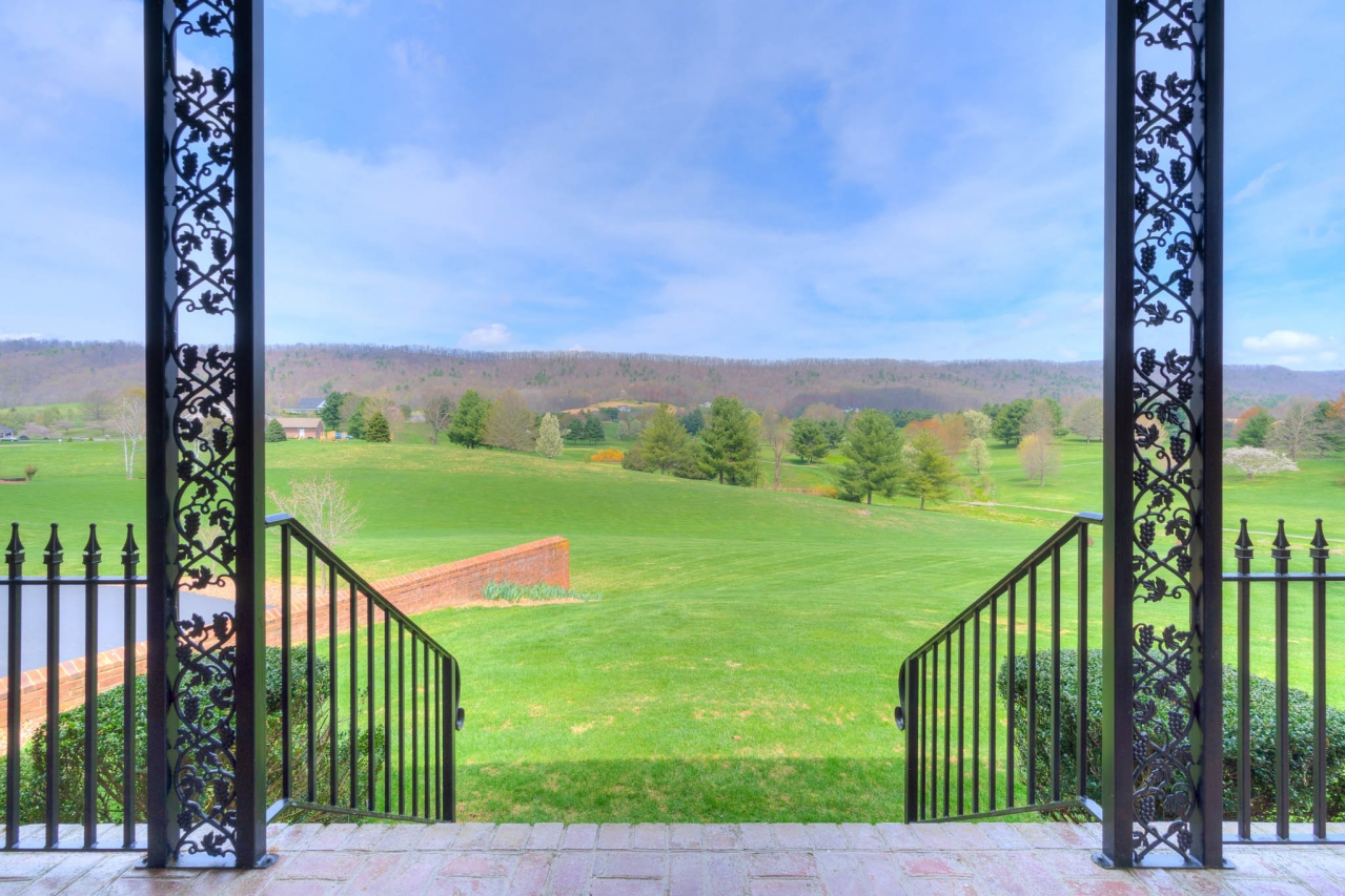 The view from the back patio of 2717 Eagle Drive.